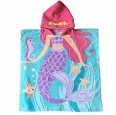 Child 100% Cotton Hooded Towel 24 x 48 inches Mermaid