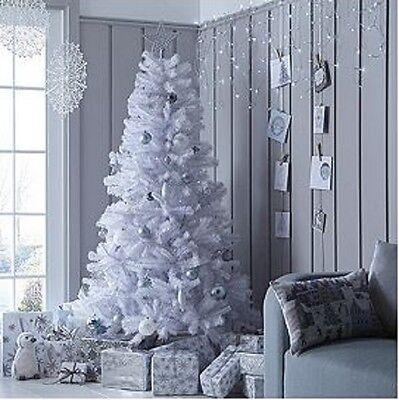 7ft White Regal Fir Premier Christmas Tree with Metal Stand