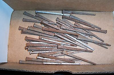 "Antique Square Cut Iron Nails 2 1/2"" Lot of 50 More Available"