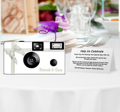 20 Silver Lace Disposable Cameras-PERSONALIZE-wedding/anniversary/party
