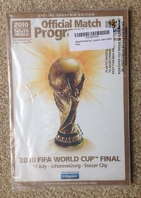 NEW / MINT FIFA 2010 World Cup Final Programme (STILL SHRINK-WRAPPED)