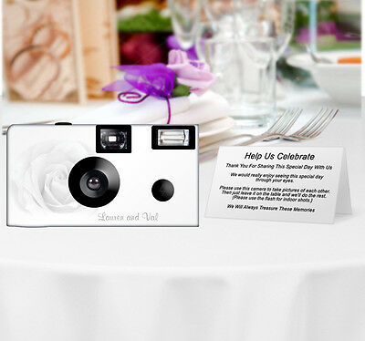 20 Sheer Rose Disposable Cameras-PERSONALIZE-wedding/anniversary/party/birthday
