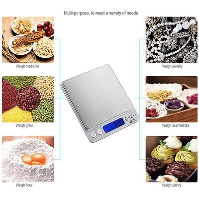 Pro Pocket Digital Scales Jewellery Gold Weighing Electronic Scsle 0.1g 500g