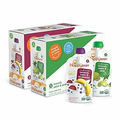 Happy Baby Organic Baby Food 2 Simple Combos, Bananas, Beets & Blueberries and &