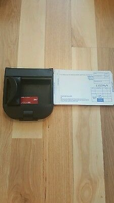Addressograph Bartizan 990 Portable Manual Imprinter With 100 Credit Card Slips