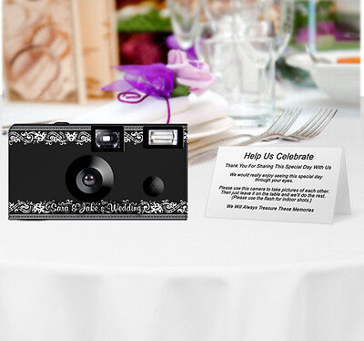 20 Vintage Frame Disposable Cameras-PERSONALIZE-wedding camera/anniversary/party