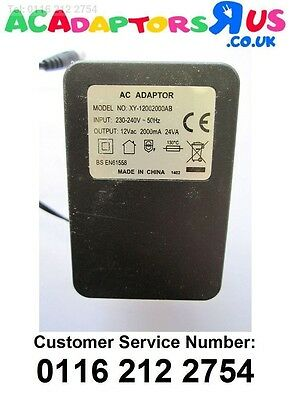 Replacement for AC ADAPTER BS EN-61558 RKBSAAC1202000 12V AC 2000mA Power Plug