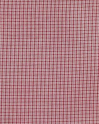 Antique 1870 Pink & White Gingham Fabric