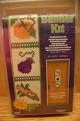 Craft Beaded Banner Kit - Veggies- #5359 by The Beadery Craft Products NIP