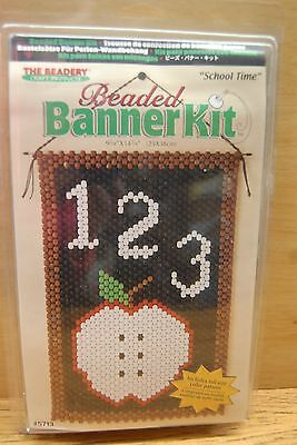 Craft Beaded Banner Kit - SCHOOL TIME - #5713 by The Beadery Craft Products NIP