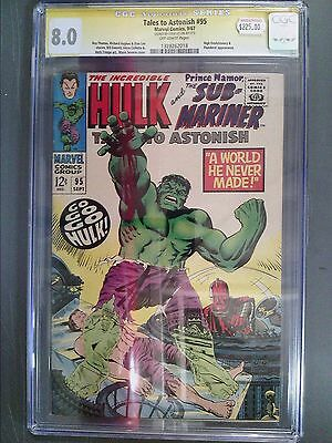 CGC 8.0 Signature Series Tales to Astonish #95 Autographed by Stan Lee!