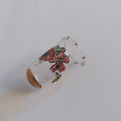 Vintage Stained Glass Designed Thimble Hand Crafted In Scotland - Boxed