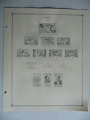 Mali • International Album pages (Scott 1959-1971) • 12 sheets with 20 stamps