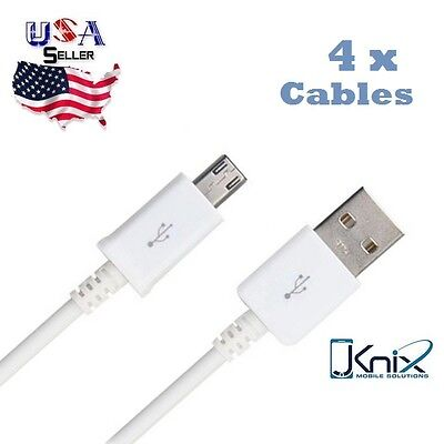 4 X RAPID CHARGE USB CABLE 3 FT FAST Charging Samsung Galaxy S7 S6 Note 4 5