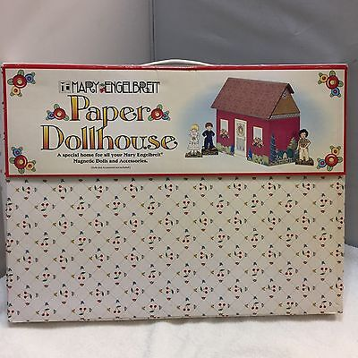 Mary Engelbreit Paper Dollhouse Playset Magnetic Home House Roof