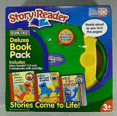 Story Reader 2.0 Electronic Reading Learning System, 3 Books & Cartridge NIB