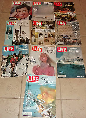 Lot of 10 Life Magazines from the 1960's