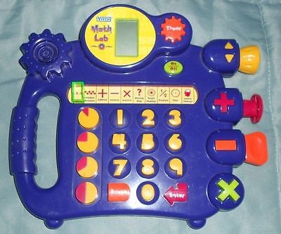 Vtech Math Lab Electonic Educational Developmental Toy Sounds Numbers Learn Math