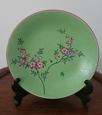 Chinese Antique Jia Qing Green Plate Great Gift