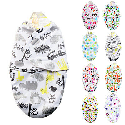 Newborn Baby Infant Soft Wrap Swaddle Blanket Sleeping Bag Sleep Sack Gift