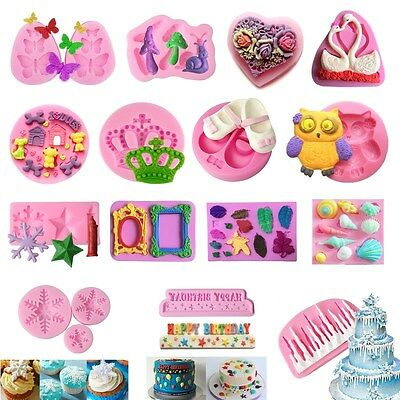 70 Silicone Fondant Mould Cake Mold Chocolate Baking Sugarcraft Decorating Tool