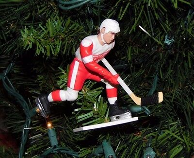 steve YZERMAN detroit RED WINGS hockey NHL xmas TREE ornament HOLIDAY #19 jersey