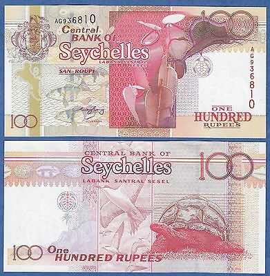 Seychelles 100 Rupees P 40 UNC RED serial # at right Low Shipping! Combine FREE!