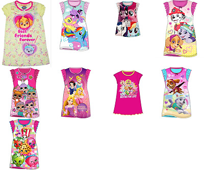 Girls pyjamas nightie long nightgown nightwear summer Disney character
