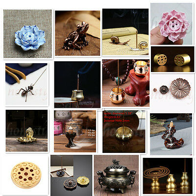 Various types Copper Church Alloy Ceramic Buddhism  Incense Burner Holder Plate