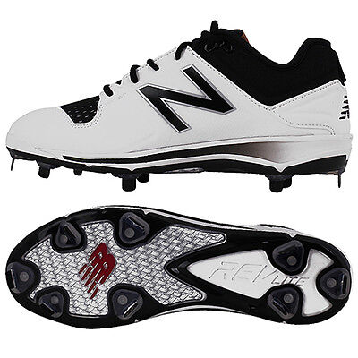New Balance Baseball Shoes Metal Spike Cleats White/Black L3000 HC3