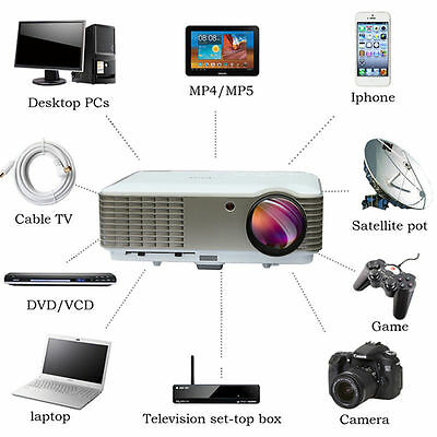 3D HOME THEATER MULTIMEDIA 5000  lumens LED USB HDMI HOME PROJECTOR HD1080P deTV