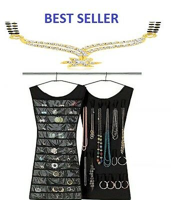 Jewellery Dress Organiser Black For Bangles/beads &bracelets,scarfs Space Savers