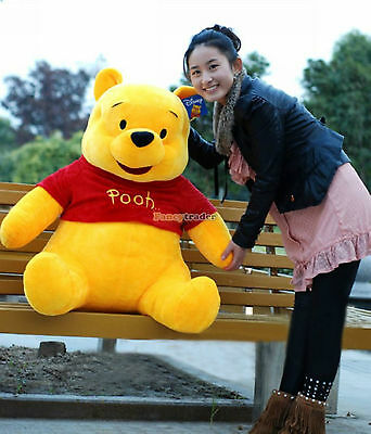 "40"" 100cm GIANT big Plush Stuffed Winnie Bear LARGE HUGE Xmas gift Free Shipping"