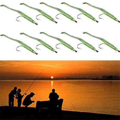 10pcs lot Luminous Soft Lures for Fishing Soft Bait Tiddler Bait With Hook New