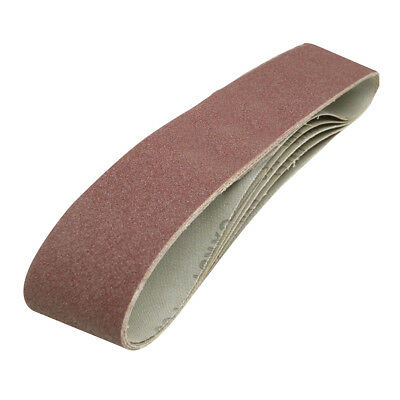 5 BANDES ABRASIVES 100 X 915 MM GRAIN 80 186813 Port gratuit