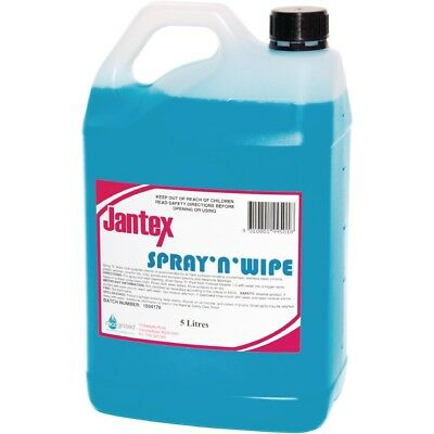 Jantex Spray and Wipe Sanitiser 5Ltr Liquid Bottles Chemicals Cleaning Supplies