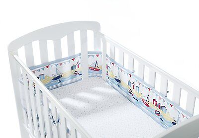 BreathableBaby 4 Sided Cot Wrap Fashion Collection - Seaside
