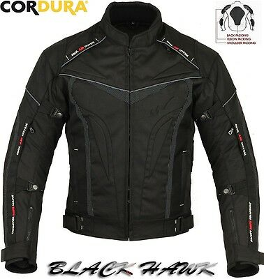 Motorbike Fabric Textile Cordura jacket with CE certified protections Size 8XL