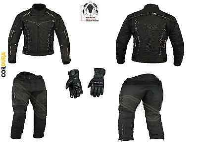 Motorbike Fabric Textile Cordura Suit with Gloves