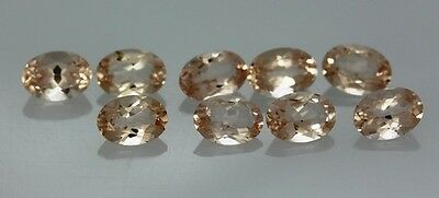 Natural Morganite Faceted Cut Oval Calibrated Size 6x4mm -7x5mm Loose Gemstone