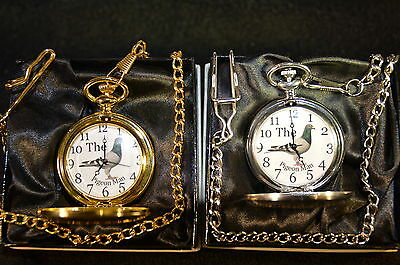 Racing Homing Pigeon Pocket Watch Gift Silver Or Gold With Or Without Engraving