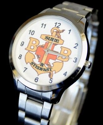 Superb Boys Brigade Watch Quarts Movement Battery Operated Black & Silver Colour