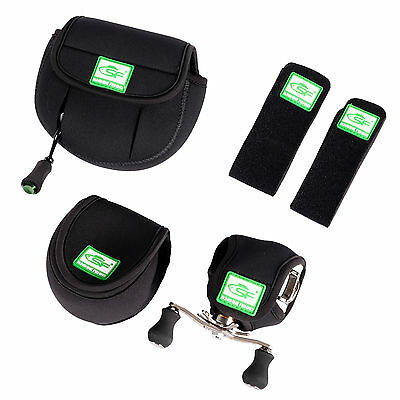SF Neoprene Fly Fishing Baitcasting Reel Glove Protective Storage Bag Rod Wrapz