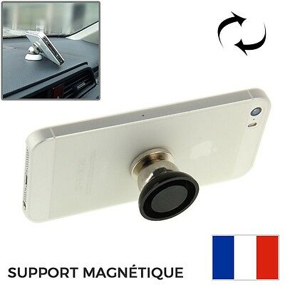 Support Magnetique Smartphone Voiture GPS Universel Rotation 360° iPhone Galaxy