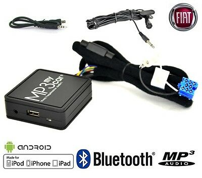 Interface Bluetooth MP3 AUX pour FIAT Punto Bravo Panda 500 Stilo Idea Multipla