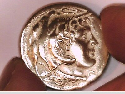 Egypt Ptolemy I As Satrap Silver Large Coin Alexander The Great Athena Shield