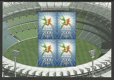 AUSTRALIA 2006 COMMONWEALTH GAMES MELB. CRICKET GROUND Sheet Ex Booklet MNH