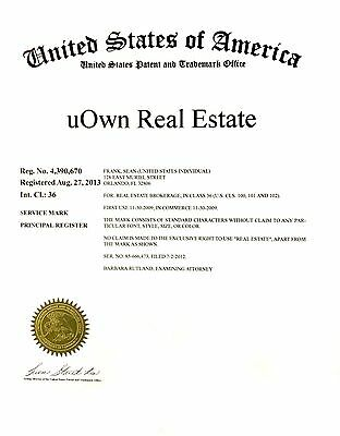 uOwn Real Estate trademark and domains for sale