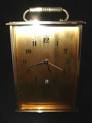 Helveco 8 Day With Date Swiss Carriage Clock