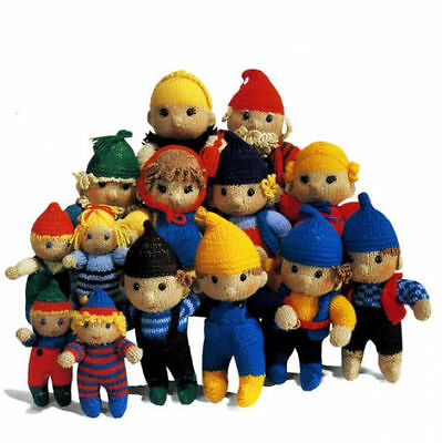 Knitting Pattern- Cute ELF Family toys to knit